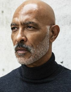 40 Modest Grey Beard Styles For Men - Machovibes - Modest-Grey-Beard-Styles-For-Men www.charlemagne-p… View the best mens hairstyles from Charlemag - Bald Men With Beards, Black Men Beards, Bald With Beard, Handsome Black Men, Handsome Man, Moustaches, Bald Black Man, Bald Man, 3 4 Face