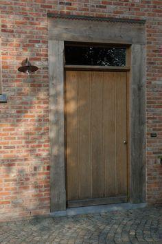 Wood – doors – Windows, Doors, Shutters and Gates – Windows Lanssens House Designs Exterior, Driveway Design, Rustic Houses Exterior, Doors And Floors, Rustic Staircase, Front Door, Rustic Exterior, House Exterior, Barn Style House