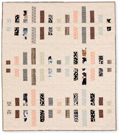Modern neutrals strip quilt, in: Quilts Made with Love by Rachel Griffith - quilt book at Martingale