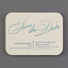 Color shades into color and makes every save the date card one of a kind. A great way to hint at your unique wedding style. Ombré foil gleams on ecru shimmer paper.   customCrest('The gorgeous ombre effect on this save the date's design is hard to show accurately in a preview. Your preview will only show the top layer of the foil colors we combine to create the shading.');