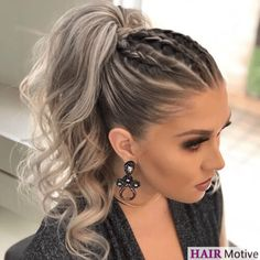 DIY Ponytail Ideas You're Totally Going to Want to 2019 Adorable Ponytail Hairstyles; Classic Ponytail For Long Hair; Dutch Braids To A High Pony;High Wavy Pony For Shoulder Length Hair Cute Ponytail Hairstyles, Cute Ponytails, Summer Hairstyles, Girl Hairstyles, Hairstyle Ideas, Ponytail Ideas, Wedding Hairstyles, High Ponytail With Braid, Trendy Hairstyles