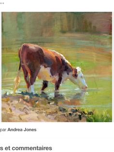 """""""Water Weight"""" by Dawn Whitelaw Farm Paintings, Paintings I Love, Animal Paintings, Cow Painting, Painting & Drawing, Farm Art, Cow Art, Country Art, Wildlife Art"""