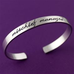 Mischief Managed Cuff - Spiffing Jewelry