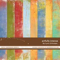Artfully Intense Paper Pack - Digital Scrapbooking Papers DesignerDigitals