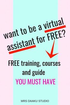 Become a Virtual Assistant FOR FREE. With these FREE virtual assistant training, you can land high paying virtual assistant jobs for beginners with no experience Importance Of Time Management, Freelance Writing Jobs, Virtual Assistant Services, Virtual Administrative Assistant, Free Training, Work From Home Jobs, Online Work, Earn Money, Making Ideas