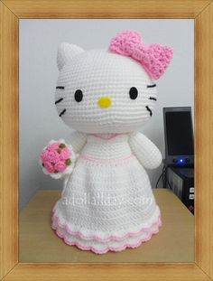Kitty Bride Amigurumi