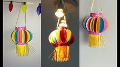 How to make paper lantern | akash kandli | diy diwali decor |kids crafts for diwali | paper crafts