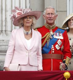 Duchess of Cornwall and Prince of Wales, celebrates Trooping the Colour