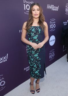 Lea Michele Evening Sandals - Lea Michele matched her dress with a pair of navy velvet sandals by Loriblu.