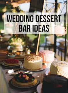 It's all about the wedding desserts! | Wedding Party