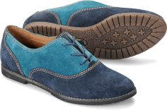 Sofft Alexandra - Navy Teal Velour.  These seem like a good neutral shoe for T1 women, considering the white topstitching, brown soles, and the bright blues.