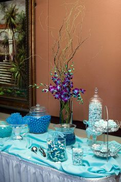Blue Orchid Centerpiece