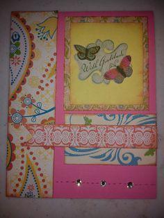 Thank you card http://scraphappypapercrafter.blogspot.com