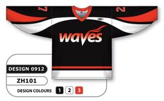 Sublimated hockey jersey design 0912 can be made in any color combination, any lettering & number styles, flat price includes all decoration, free shipping.