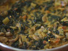 Acelgas Guisadas - AntojandoAndo Swiss Chard Recipes, Green Kale, Collard Greens, Ratatouille, Beans, Veggies, Chicken, Healthy, Ethnic Recipes