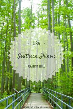 Hike and Camp in Southern Illinois, USA Trail of Tears State Forest Garden of the Gods State Park Giant City State Park #illinois #midwesttravel