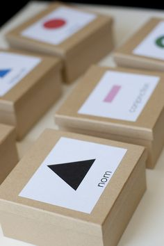 Montessori grammar boxes