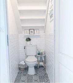 Elegant compact toilets for small bathrooms that you must have Toilet For Small Bathroom, Bathroom Under Stairs, Downstairs Bathroom, Bathroom Design Small, Bathroom Layout, Bathroom Interior Design, Small Bathrooms, Toilet Under Stairs, Compact Bathroom