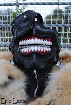 Tokyo Ghoul Ken Kaneki's Eyepatch Leather Mask by Epic-Leather Meine Ideen Sammlung Mascara Kaneki, Tokyo Ghoul Mascara, Tokyo Ghoul Kaneki Mask, Tokyo Ghoul Cosplay, Cosplay Anime, Cosplay Diy, Best Cosplay, Creepy Masks, Cool Masks