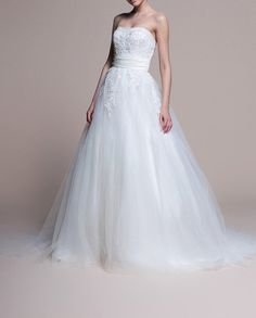 Aurora/wedding gown/women clothing/bridal dress/fishtail/sweetheart line//tulle/elegant/custom made/ALL SIZE. $359.00, via Etsy.