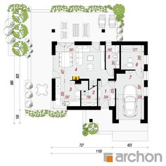 Dom w żurawkach 7 Sweet Home, Floor Plans, 1, Projects, House Beautiful, Floor Plan Drawing, House Floor Plans