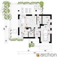 projekt Dom w żurawkach 7 rzut parteru
