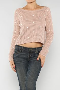 Polka Dot Sweater #Fall #Fashion #Shop #wholesale #polkadots #dots #ootd #wiwt #Clothing #WOTD