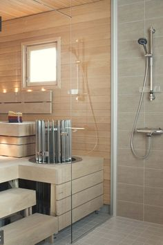 Diy Sauna, Wet Rooms, My House, Bathtub, Interior Design, Bathroom, Spa, Cottage, Decor Ideas