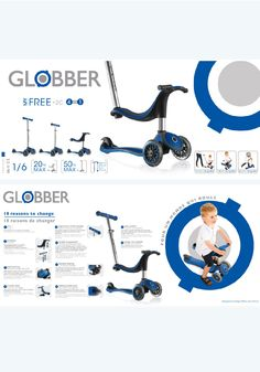 My Free 2C - 4 In 1 - Scooter - Globber