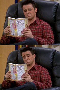 Joey Tribbiani reads (thanks, @St. Martin's Press for alerting us to this!)