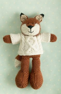 Knitted Christmas fox