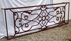 A SUPERB FRENCH WROUGHT IRON BALCONY PANEL. L@@K!!! For Sale | Antiques.com | Classifieds