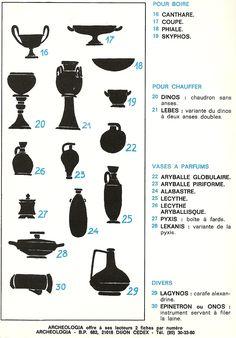 Supplément à Archéologiacliquer pour télécharger Vases, Old Greek, Cultural Architecture, Glass Design, Art Studios, Pottery Art, Archaeology, Art Lessons, Art Reference