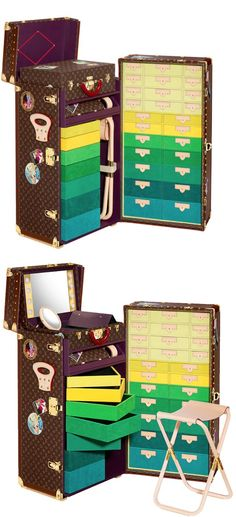 Cant get over Cindy Sherman's dress-up trunk from the Louis Vuitton Icon and Iconoclasts Collection