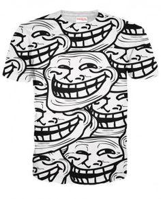 TROLL FACE Koszulka T-Shirt Full Print Mem Internetowy