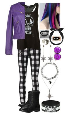 """""""Emo Twilight"""" by mylittlepony-outfits ❤ liked on Polyvore featuring rag & bone/JEAN, Steve Madden, Reis, Just Cavalli, Noor Fares, Feathered Soul, yunotme, MLP, MyLittlePony and TwilightSparkle"""
