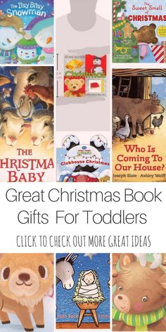 Great Stocking Stuffer Gift ideas for Toddlers.  10 Great Board Books under $6 each.