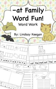 -at family word work FREEBIE!