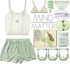 littlemountainlady:  Mind/Matter by teriarejola featuring lingerie bras ❤ liked on Polyvore The Lake & Stars strapless camisole / Araks / La Perla lingerie bra / Laura Mercier / L'Occitane l occitane / downtown union square comforter - winter - ABC Carpet & Home / Small Light Green Recycled Glass Candle Holder