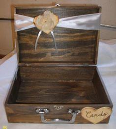 Rustic Card Box  Burlap Wedding Reception by SimplyWeddingDecor