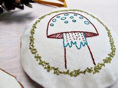 woodland ornament set pdf embroidery pattern by cozyblue on Etsy