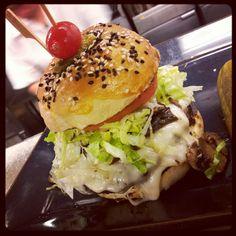 Bison burger...