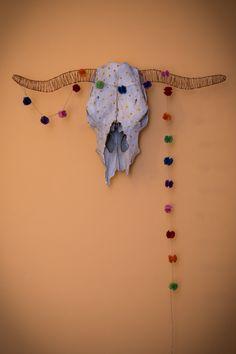 skull cow .. nájdená lebka bezrohej krávky v lese ..