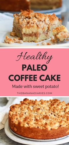 Healthy Classic Cinnamon Coffee Cake This healthy classic cinnamon coffee cake is completely paleo gluten free and nut free Its a healthy twist that tastes just like the. Paleo Dessert, Healthy Dessert Recipes, Healthy Desserts, Real Food Recipes, Paleo Cake Recipes, Healthy Food, Mexican Desserts, Paleo Meals, Healthy Cake