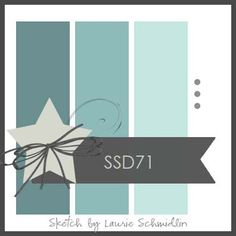Try a square card for a new twist.  Add rectangles and a star and you have the perfect card for a variety of occasions.