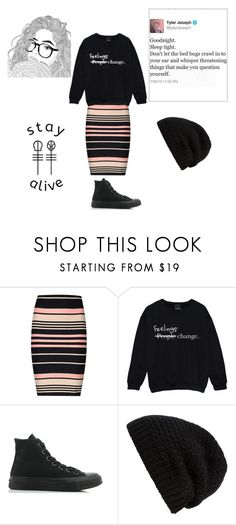 """21."" by audithebatman on Polyvore featuring Miss Selfridge, Converse and Rick Owens"