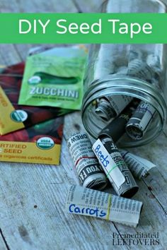 How to Make Seed Tape with Newspaper - Get ahead start on your garden and use this tutorial to make your own Seed Tape while you wait for spring planting.