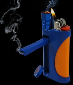 Pipe and lighter in one