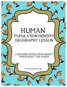 population distribution density worksheet human physical geography resources pinterest. Black Bedroom Furniture Sets. Home Design Ideas