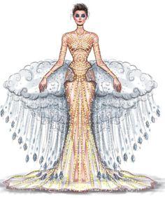 Barbie Fashion Sketches, Fashion Sketchbook, School Fashion, Fashion Week, Fashion Art, Samba Costume, Fashion Illustration Dresses, Fashion Illustrations, Disney Princess Fashion